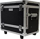 Vincent Master Case Travel Stylist Barber Case on Wheels, Black