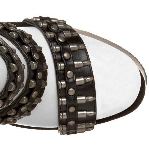 Pleaser Women's Bondgirl68 Platform Sandal, Size: 7 UK,Color: Black