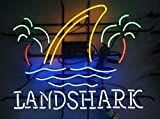 Desung Brand New 20''x16'' Landshark Lager Palm Tree Neon Sign (Various sizes) Beer Bar Pub Man Cave Business Glass Neon Lamp Light DB09