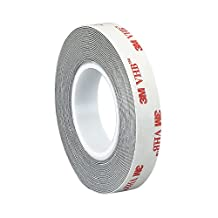 """3M 2-5-467MP (CASE OF 4) Adhesive Transfer Tape 467MP, 2"""" Wide, 5 yd. Length, Clear (Pack of 4)"""