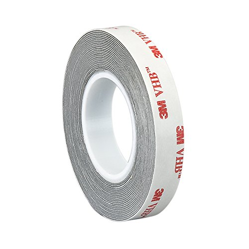 3M VHB RP16 Double Sided Tape Roll - 0.5 in. x 15 ft. Conformable Foam Tape with Permanent Bonding Acrylic Adhesive. Tapes and Sealants