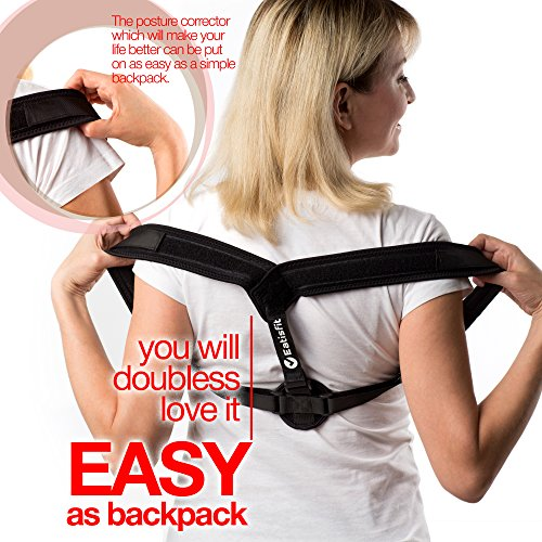 Eatisfit Professional Posture Corrector Back and Shoulder Support for Women and Men. Best Way to Improve Bad Posture, Prevent Slouching and Relieve Pain. Includes Carry Bag by Eatisfit (Image #7)