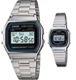 Casio #A158WA-1/LA670WA-1 Men and Women's Classic Metal Band Alarm Chronograph Digital Watches