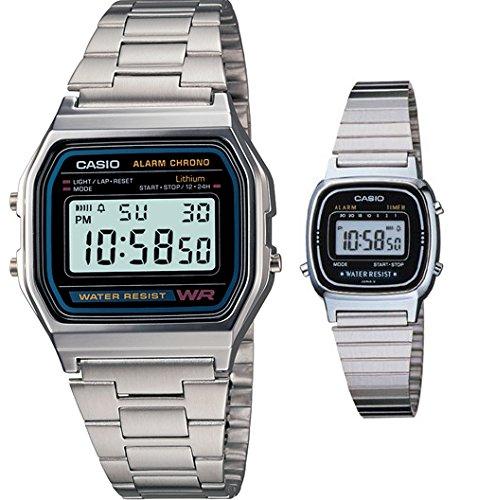 Casio A158WA 1 LA670WA 1 Classic Chronograph