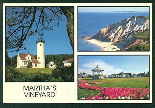 Martha's Vineyard Massachusetts West Chop Lighthouse Gay Head Cliffs Gazebo Oak Bluffs Postcard ()