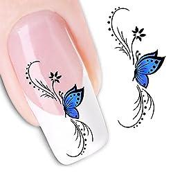 Nail Art Water Butterfly Water Nail Art Decal / Tattoo / Sticker
