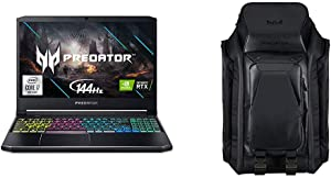 "Acer Predator Helios 300 Gaming Laptop with Predator M-Utility 1680D Ballistic Laptop Backpack for Up to 17"" Laptop, Black, PBG920"