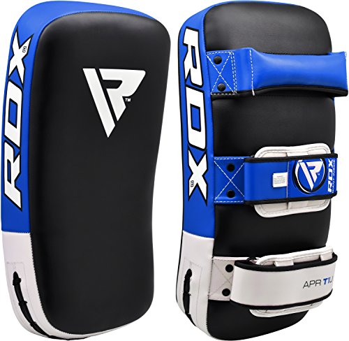 Curved Thai Pads (RDX MMA Strike Shield Curved Training Thai Pad Kick Focus Target Boxing Punching (SINGLE ITEM))