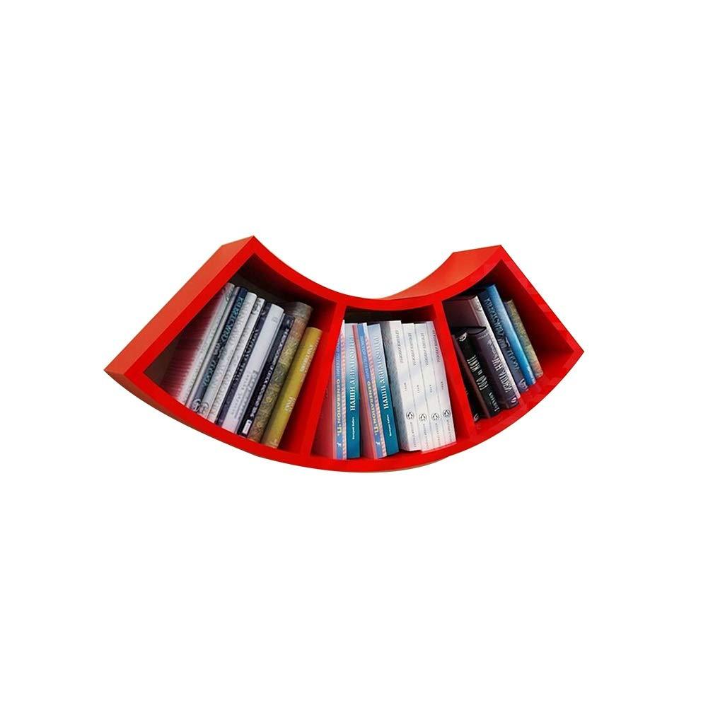 Bookcases Storage Shelf, Wall Shelf Creative Partition Shelf Storage Shelf Storage Rack (Thickness: 1.5cm) Yixin (Color : A, Size : 7435cm)