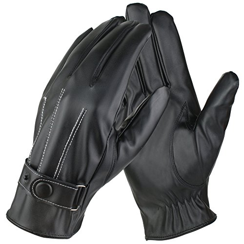 Winter Touchscreen Texting Leather Gloves