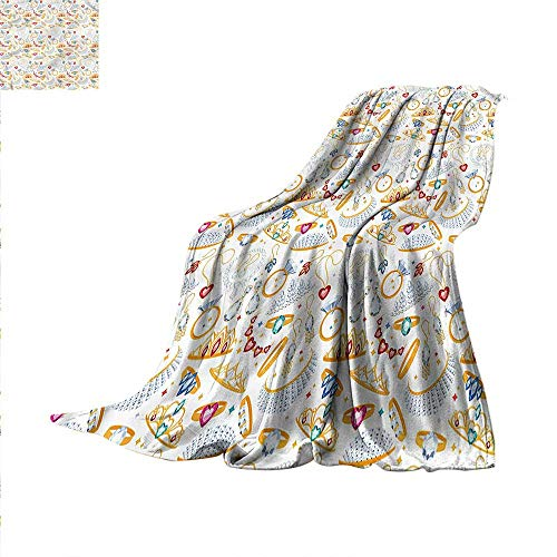 (Pearls Weave Pattern Extra Long Blanket Accessories Diamond Rings Custom Design Cozy Flannel Blanket 90