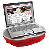 Cushioned Laptop Lap Tray - Red - Ergonomic with Wide Surface