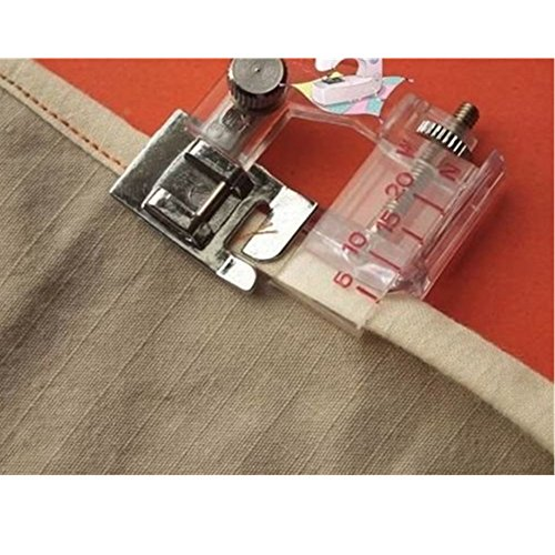 ILJILU Snap-on Adjustable Bias Binder Foot for Brother Singer Janome Sewing Machine, The Adjustable Range is from 5mm to 20mm