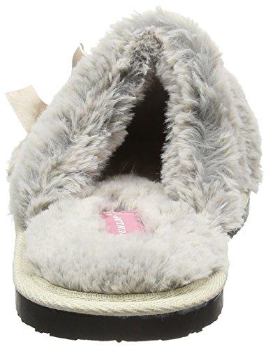 Dunlop Adrienne, Zapatillas de Estar por Casa para Mujer Gris - gris (gris)