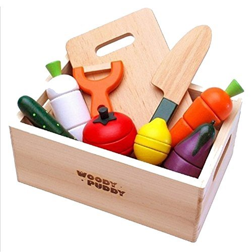 Bovillo Wodden Kitchen Tool Combination Play Toy Shape Sorters Education Green Gift for Kids