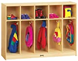 Jonti-Craft 2684JC Toddler 5 Section Coat Locker