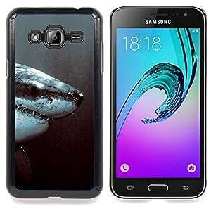 SKCASE Center / Funda Carcasa protectora - Tiburón Blanco Jaw;;;;;;;; - Samsung Galaxy J3 GSM-J300