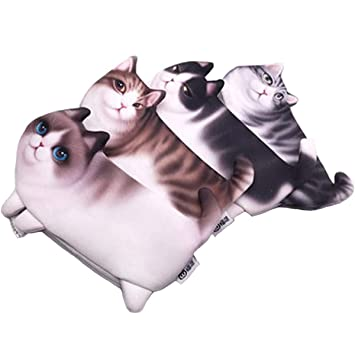 Magicor - Estuche para lápices de gato 3D con cremallera para cosméticos, monedero, monedero para adultos, color gato: Amazon.es: Oficina y papelería