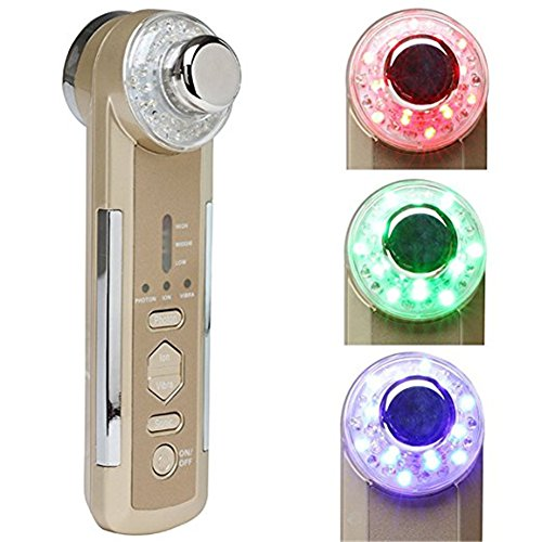 Zinnor 4 in1 Photon Ultrasonic LED Electric Facial Massager