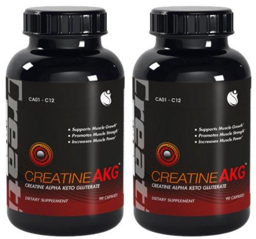 La croissance musculaire Créatine AKG-Créatine AKG Avec L-Taurine 180 capsules 2 Bouteilles