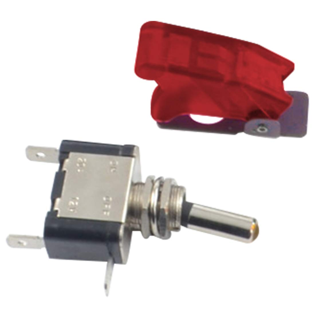 12V//20A Car Auto Switch On//off SPST Toggle Switch LED Illuminated Red