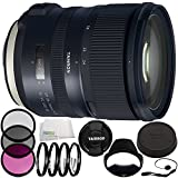 Tamron SP 24-70mm f/2.8 Di VC USD G2 Lens for Canon EF 8PC Accessory Bundle – Includes Manufacturer Accessories + 3PC Filter Kit (UV + CPL + FLD) + MORE- International Version (No Warranty)