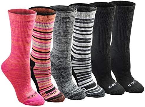 Dickies womens Dritech Advanced Moisture Wicking Crew Sock (6/12 Pairs)