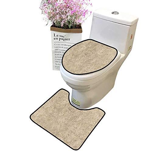 Bathroom Rug Toilet Sets Cafe Tumble Travertine Marble Texture Stone backgroun Skidproof Bath Mat and Toilet - Bases Pedestal Travertine