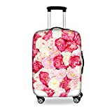 FOR U DESIGNS 22-26 Inch Middle Sweet Pink Flower Print Spandex Luggage Cover Suitcase Protector