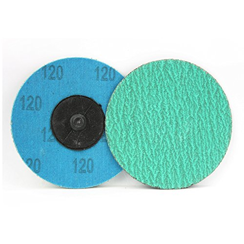 25 Pack Roll On /… 3 Green Zirconia with Grind Aid Quick Change Sanding Discs Type R Male 36 Grit