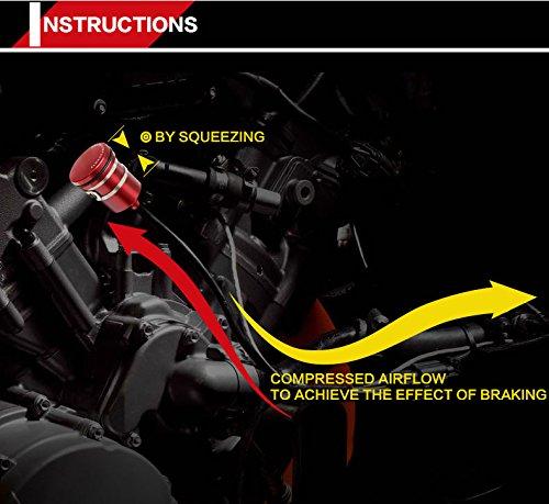 Motocicleta partes Universal CNC Alu Racing delantero y trasero Cilindro maestro Depósito de frenos Copa líquido depósito de aceite: Amazon.es: Coche y moto