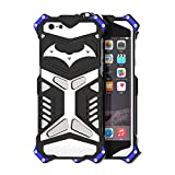 "Happy Hours - Dust + Shock Proof iPhone 5/5G/5S/SE 4"" Cover / Drop Resistance Space Aluminum Rugged Hybrid Armor Protective Case Shell for Apple(Black)"
