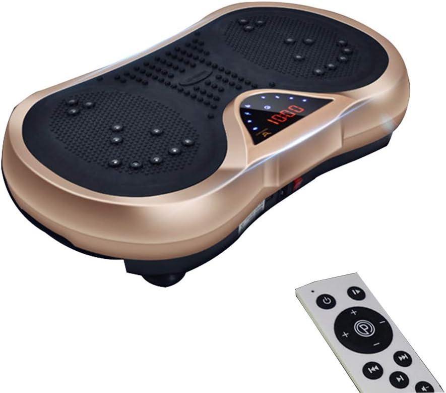 SJS Power Plate, Placa de vibración de Fitness, Forma de Cuerpo Entero Máquinas de Ejercicios, con Altavoces Bluetooth Entrenamiento de pérdida de Peso Trainer Gym Aparatos para Hacer Ejercicio