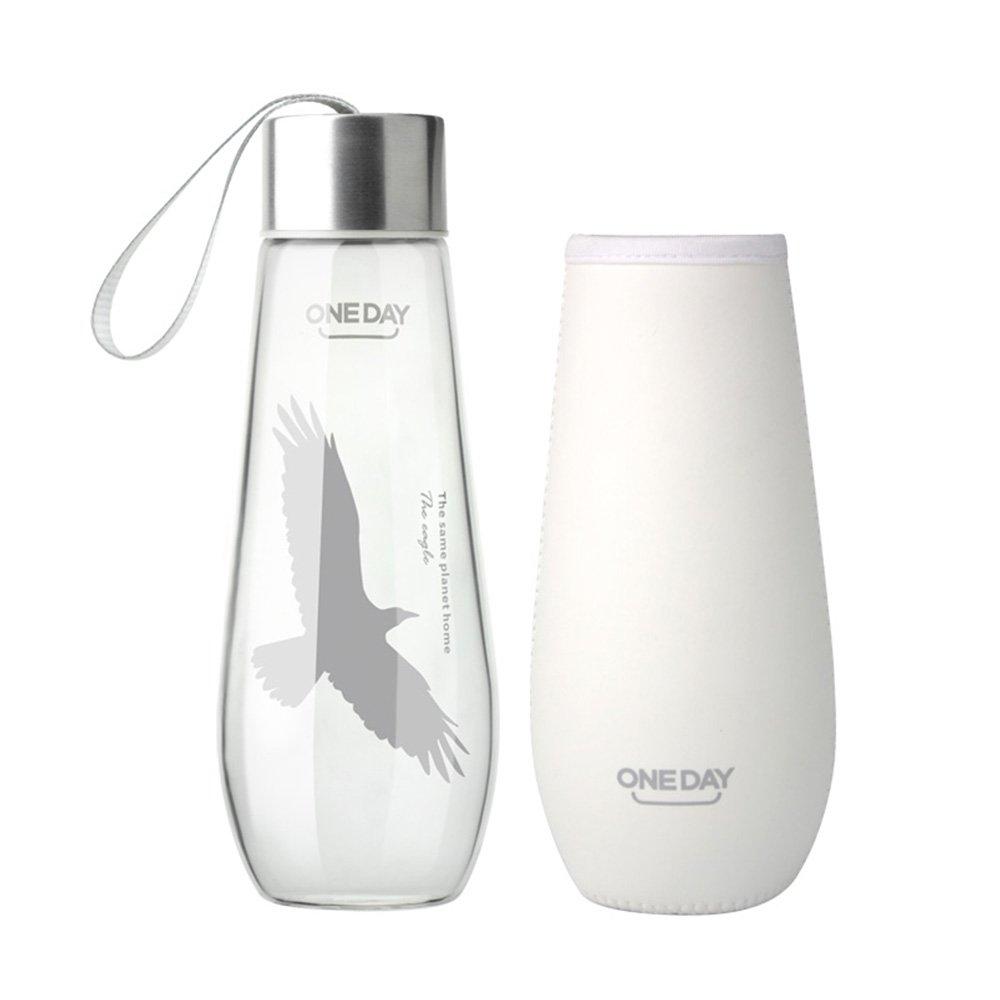 One Day sb60024 480 ml Borosilikatglas Wasser Flasche mit Nylon ...