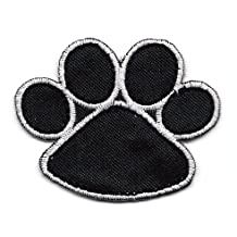 Clifford the Big Red Dog BLACK PAW PRINT Embroidered Iron On / Sew On Patch ~ puppy paw print by Clifford