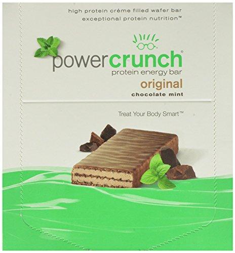 Power Crunch Protein Energy Bar, Chocolate Mint, 1.4-Ounce Bars, 12 Count -