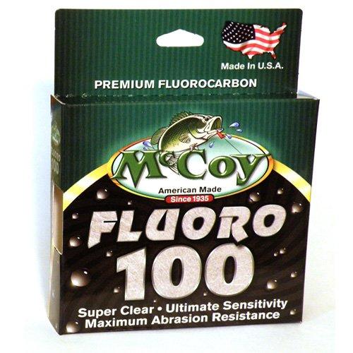 McCoy Fishing Fluoro 100 Fluorocarbon Fishing Line, 200-Yard/4-Pound