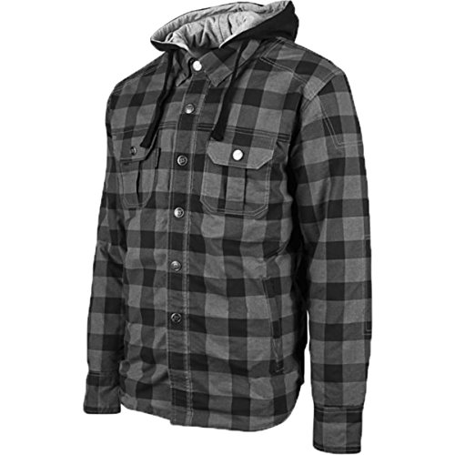 Speed and Strength Men's Standard Supply Black/Charcoal Moto Jacket, - Standard Supply