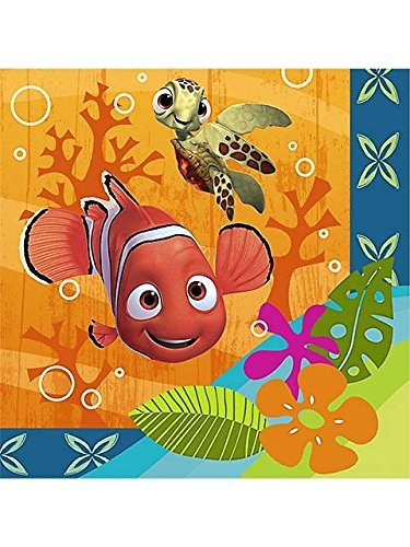 Disney Nemo's Coral Reef Beverage Napkins (16 count) Party - Nemo Finding Napkins