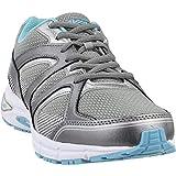 Avia Women's Avi-Execute II Running Shoe, Chrome Silver/Metallic Grey/Topaz Blue, 9.5 W US