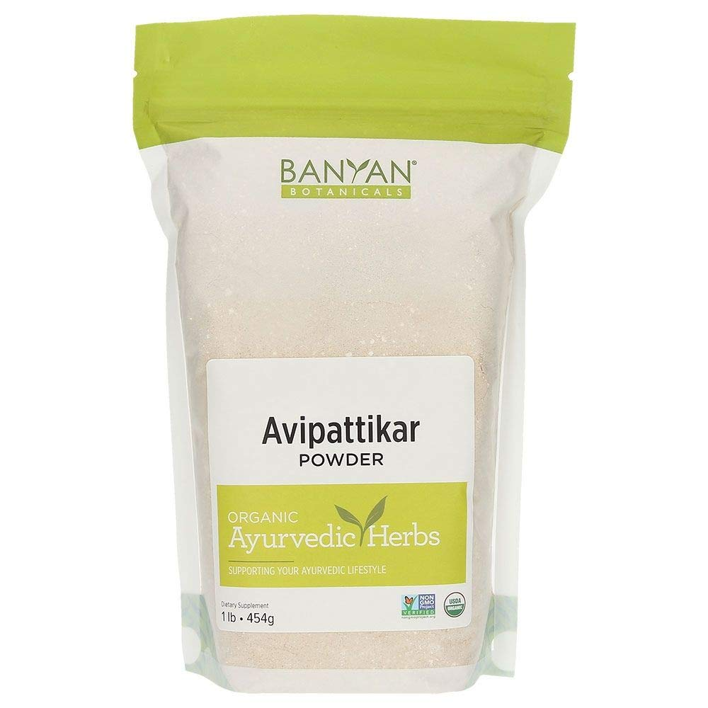 Banyan Botanicals Organic Avipattikar Powder - 1 lb - with Cardamom, Vidanga, Ginger - Traditional Ayurvedic Formula to Soothe The Digestive Tract*- Non-GMO Sustainably Sourced No Additives