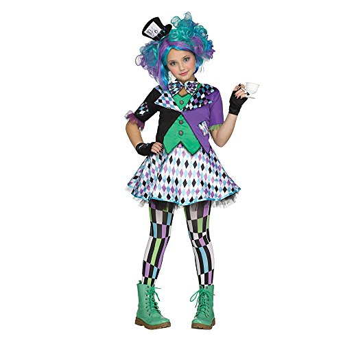 [Girls Mad Hatter Kids Costume (X-Large 14-16)] (Mad Hatter Costume Kids Girl)