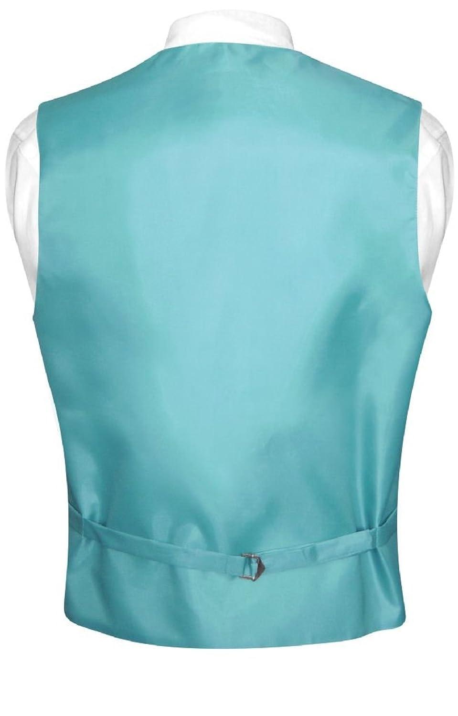 Men\'s Dress Vest & BowTie Solid TURQUOISE AQUA BLUE Color Bow Tie ...