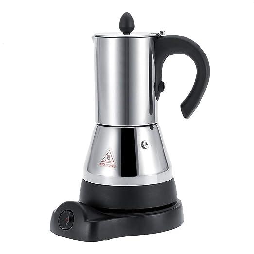 Cafetera eléctrica, máquina de café espresso y capuchino de acero ...