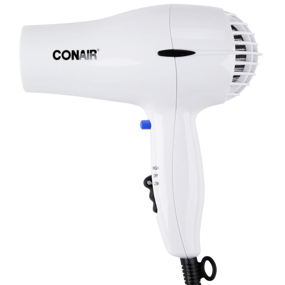 Conair 047W White 2 Heat 2 Speed Hair Dryer – 1600W