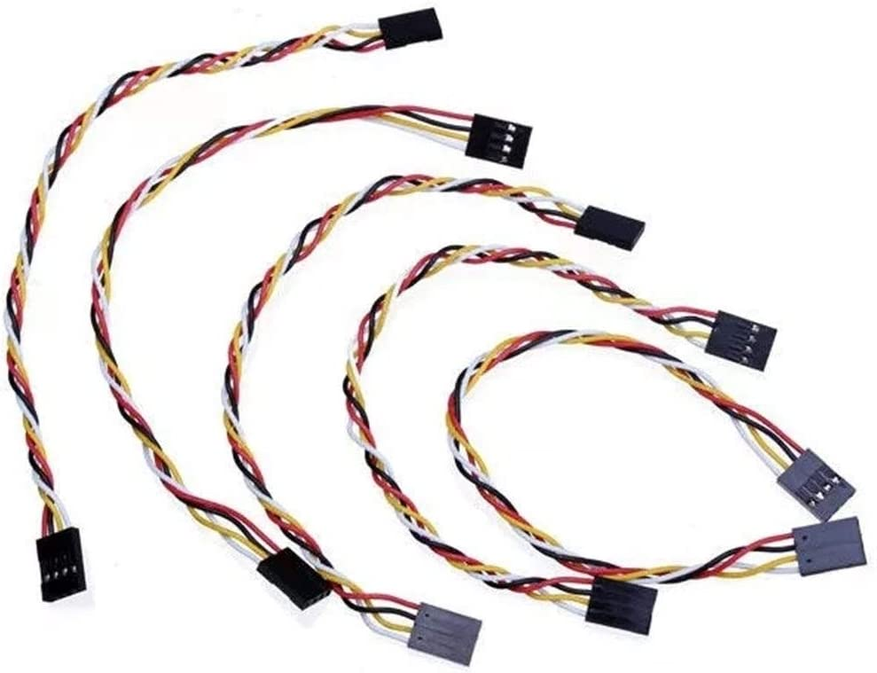 LCHAO Wireless Control 100pcs 4 Pin 20cm 2.54mm Jumper Cable Dupont Wire for Arduino Female to Female