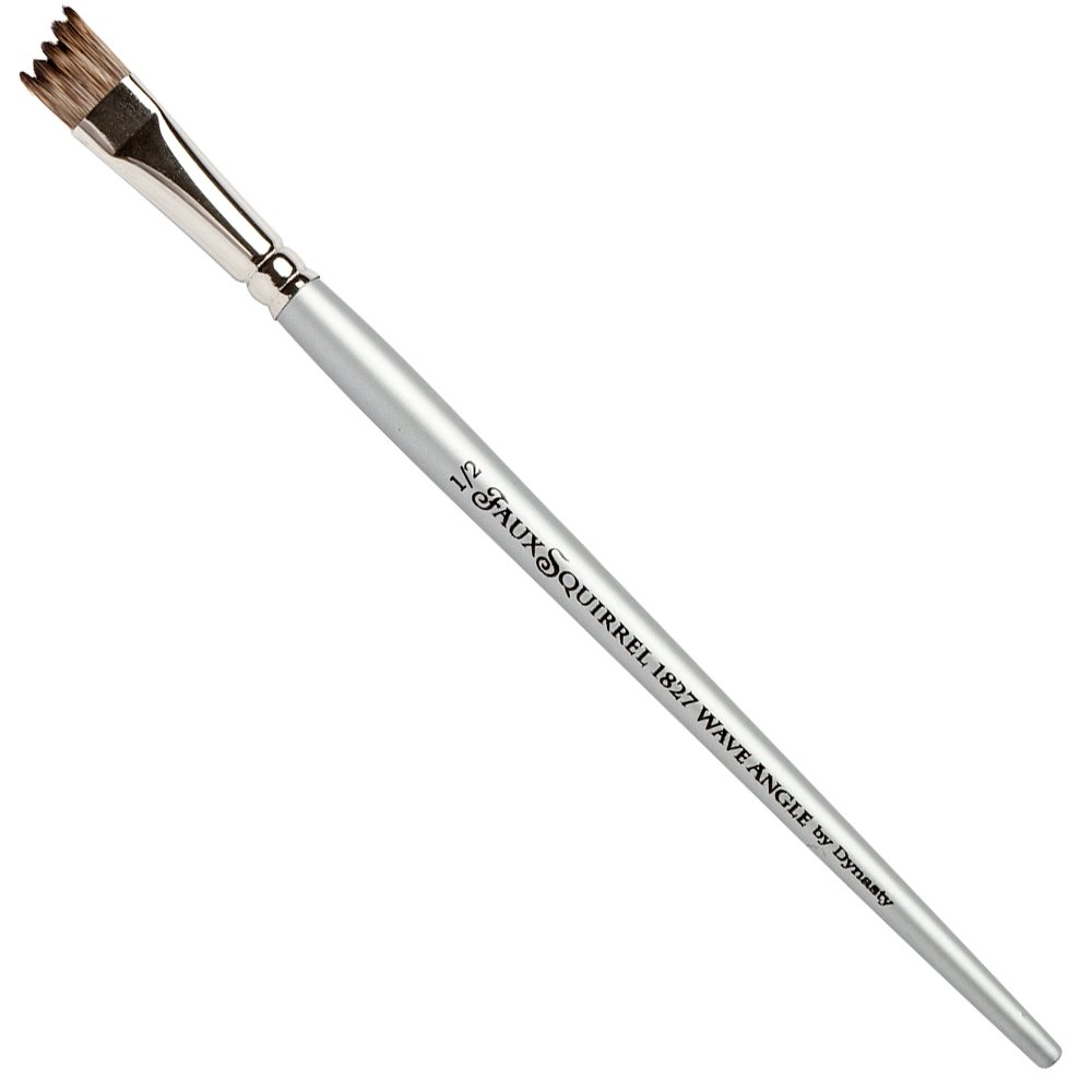 Dynasty Faux Squirrel Brush - Series 1827WVA - Wave Angle, Size 1/2 ABS-29609