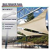 Windscreen4less 12' x 12' x 17' Sun Shade Sail