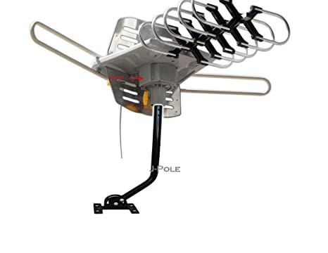 Able Signal Amplified HD Digital Outdoor HDTV Antenna 150 Miles Range with Motorized 360 Degree Rotation