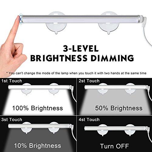 Emotionlite Vanity Light LED Make up Light Bathroom Vanity Mirror Light Portable Cosmetic Mirror Light Kit with 3-Level Brightness Dimmable, USB Makeup Light, Portable & Durable, White, 6000K by Emotionlite (Image #3)